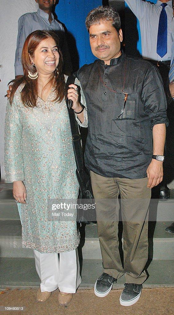 Vishal Bhardwaj and Rekha Bhardwaj at Shahid Kapoor`s birthday bash at Olive in Bandra on February 25 2011