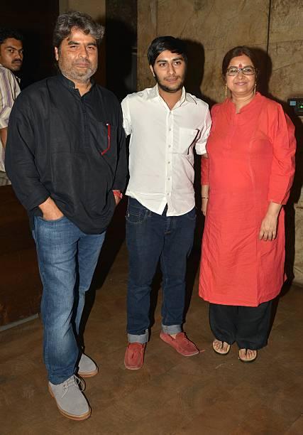 Vishal Bhardwaj and Rekha Bhardwaj at the screening of his movie Tannu weds Mannu in Mumbai