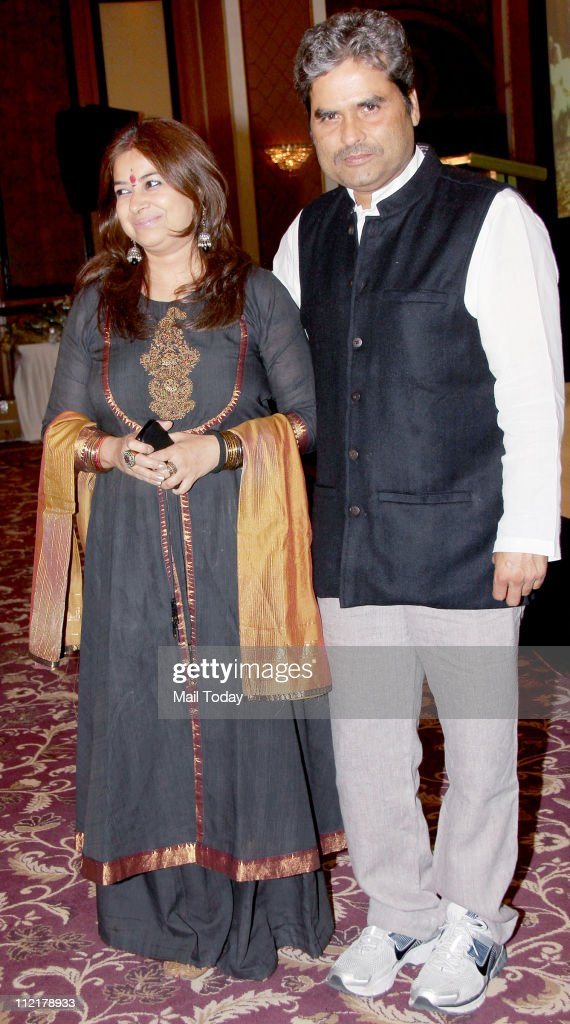 Vishal Bhardwaj and Rekha Bhardwaj during the music launch of album `Sarhadein` by Sa Re Ga Ma and Radio City at Taj Lands End Mumbai