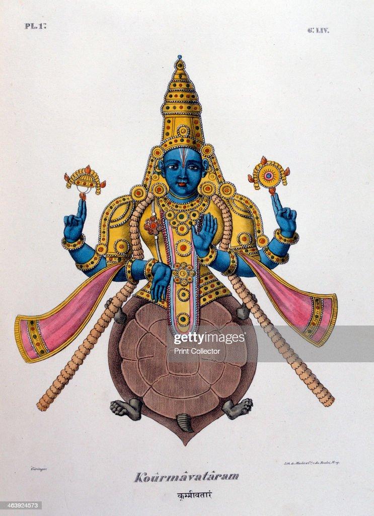 Vishnu, one of the gods of the Hindu trinity (trimurti), 1828. Artist: Anon : News Photo
