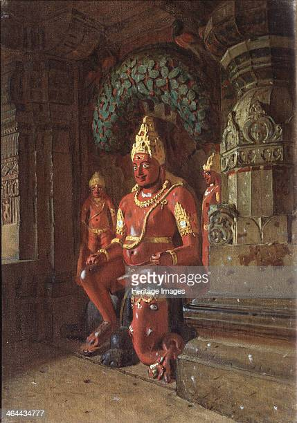 A Vishnu statue in the Indra temple 1874 Found in the collection of the State Tretyakov Gallery Moscow
