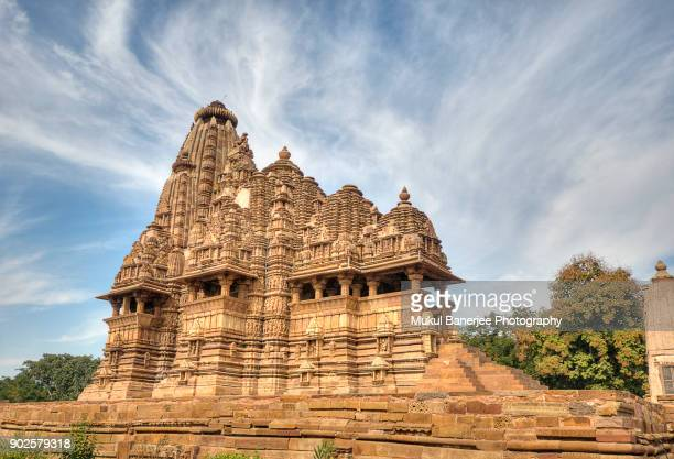 vishwanatha temple, khajuraho, india - khajuraho stock pictures, royalty-free photos & images