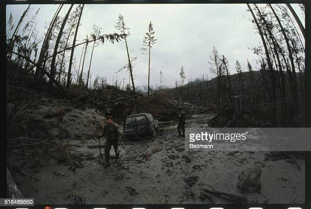 Visibility on Interstate 5 was almost nil all 5/28 as autos were kicking up volcanic ash from eruption of Mt St Helens Washington State Patrol...