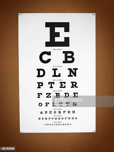 vision chart - eye chart stock pictures, royalty-free photos & images