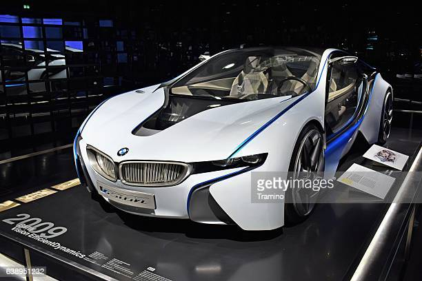 bmw vision efficientdynamics - concept car - bmw i8 stock photos and pictures