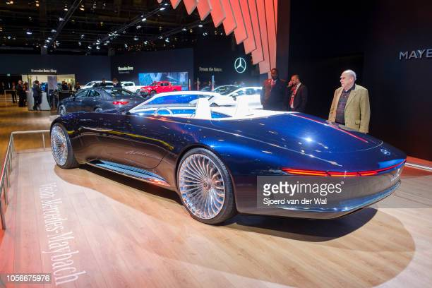 Vision MercedesMaybach 6 Cabriolet luxury exclusive convertible concept car on display at Brussels Expo on January 10 2018 in Brussels Belgium The...