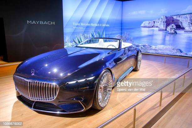 Vision Mercedes-Maybach 6 Cabriolet luxury exclusive convertible concept car on display at Brussels Expo on January 10, 2018 in Brussels, Belgium....