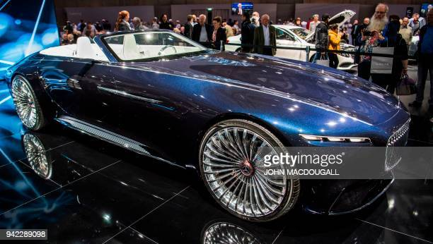 A Vision MercedesMaybach 6 luxury sports car is on display in a showroom during German luxury car manufacturer Daimler's annual general meeting in...