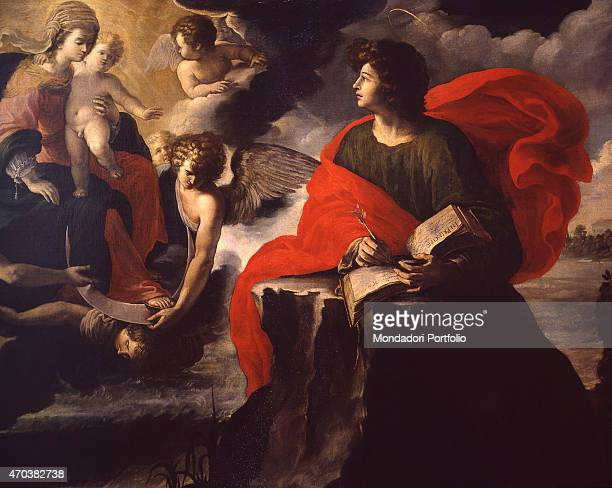 'Vision of St John on Patmos by Anonymous artist 16th century oil on canvas Italy Lombardy Milan Castello Sforzesco Civic Museum of Ancient Art Whole...