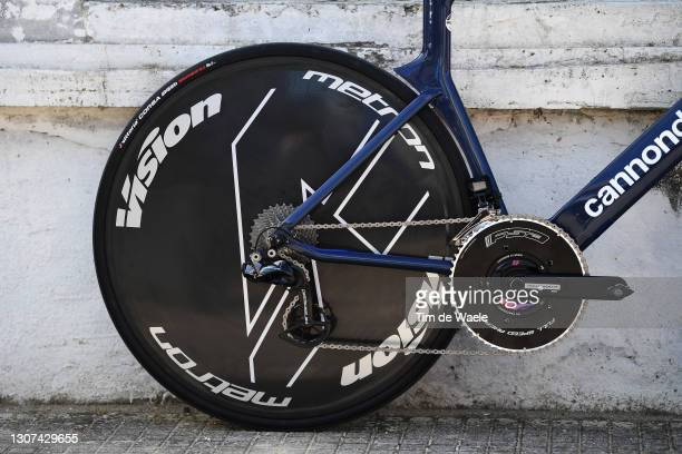 Vision Wheel of Cannondale Team EF Education - Nippo's Time Trial Bike during the 56th Tirreno-Adriatico 2021, Stage 7 a 10,1km Individual Time Trial...
