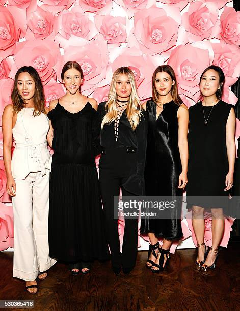 Visionaries Aimee Song Molly Thompson Lauren Paul Jamie Schnieder and Erica Choi attend the Who What Wear Visionaries Launch at Ysabel on May 10 2016...