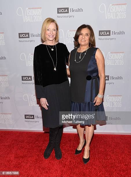 Visionary Ball CoChairs Edie Baskin Bronson and Susan Dolgen attend the UCLA Department of Neurosurgery Visionary Ball 2016 at the Beverly Wilshire...