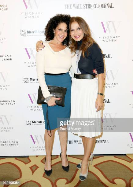 Visionary Circle member Elisabeth Weinstock and Visionary Women Executive Board Member Angella Nazarian attend the Visionary Women 2018 Salon...