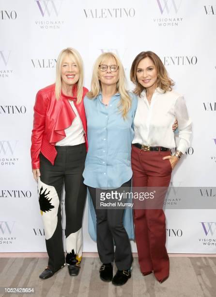Visionary Women Executive Board Member Lili Bosse Rosanna Arquette and Visionary Women Executive Board Member Angella Nazarian attend Visionary Women...