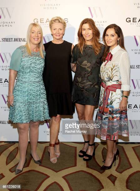 Visionary Women Executive Board Members Lili Bosse Shelley Reid Veronica Grazer and Angella Nazarian attend the Visionary Women's Salon Mind Body and...