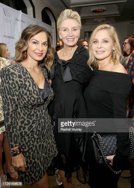 Visionary Women's Angella Nazarian President of Visionary Women Shelley Reid and Kristin Fisher attend Visionary Women's International Women's Day...