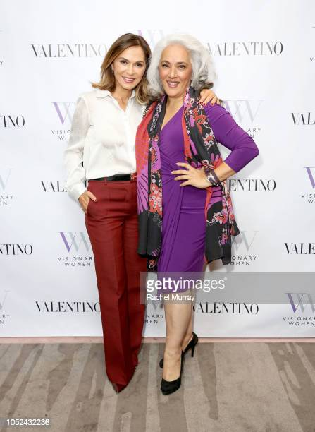 Visionary Women's Executive Board Member Angella Nazarian and LIana Chaouli attend Visionary Women Consciousness The Ultimate Intelligence An Evening...
