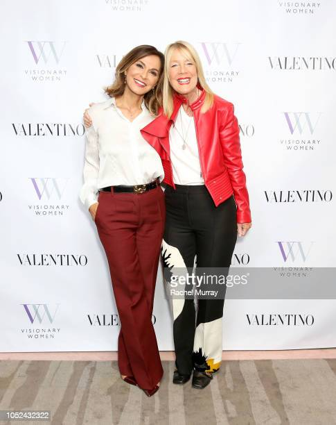 Visionary Women's Executive Board Members Angella Nazarian and Lili Bosse attend Visionary Women Consciousness The Ultimate Intelligence An Evening...