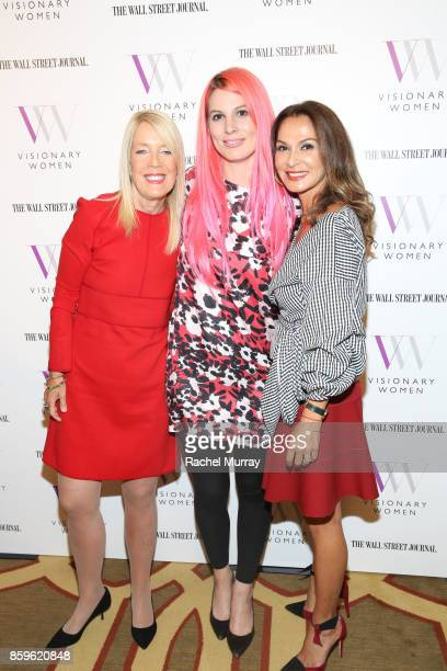 Visionary Women's Lili Bosse Piera Klein and Angella Nazarian attend Visionary Women present Grit Guts and Grace Lessons in Overcoming Adversity and...