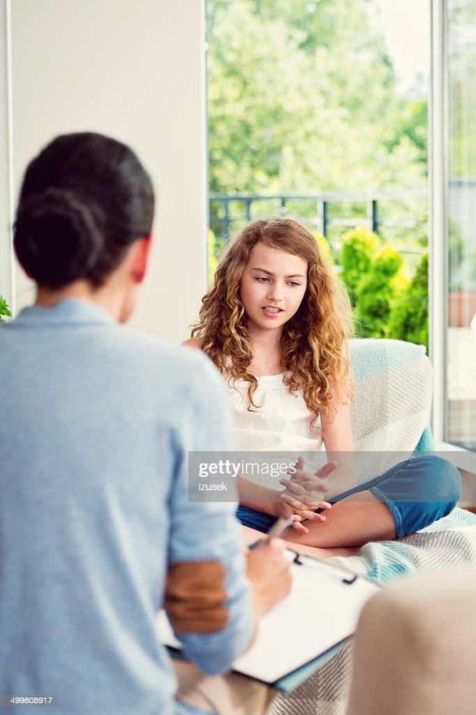 Visit a psychologist : Stock Photo
