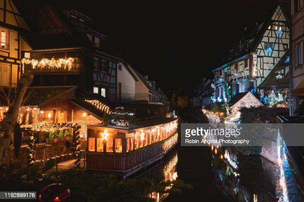 visit colmar in christmas time at night, alsace, france - robin-angelo  photography photos et images de collection