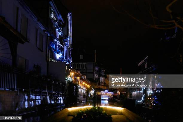 visit colmar on the river in christmas time, alsace, france - robin-angelo  photography photos et images de collection