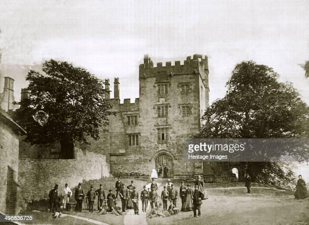 Visit of 200 Belgian volunteers to Haddon Hall, Derbyshire, 1867. A legion of about 2000 volunteers was formed in Belgium to help Emperor Maximilian...
