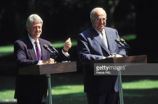 Visit of Bill Clinton in Bonn Germany On July 10 1994Bill Clinton and Helmut Kohl