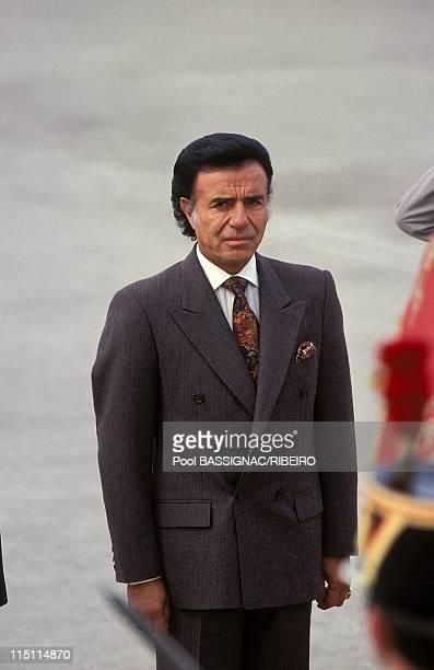 Visit of Carlos Menem in Paris France on February 1992