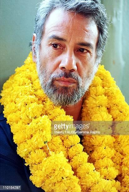 Visit of East Timor leader Xanana Gusmao in Bangkok Thailand on February 01 2000 During a visit of a Bangkok's slum