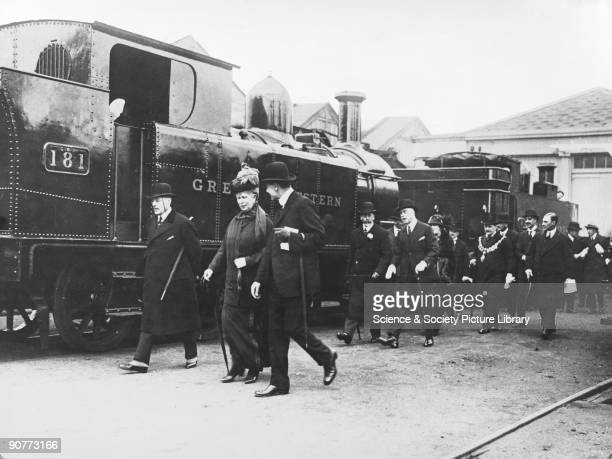 Visit of George V and Queen Mary to Swindon Works, April 1924. The King and Queen toured the works and saw all the phases of vehicle manufacture and...