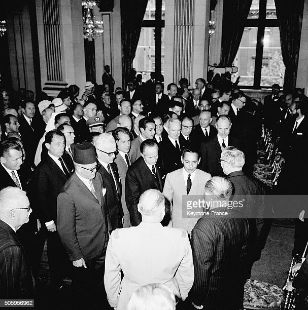 Visit Of King Hassan II Of Morocco At Paris City Hall in Paris France on June 28 1963