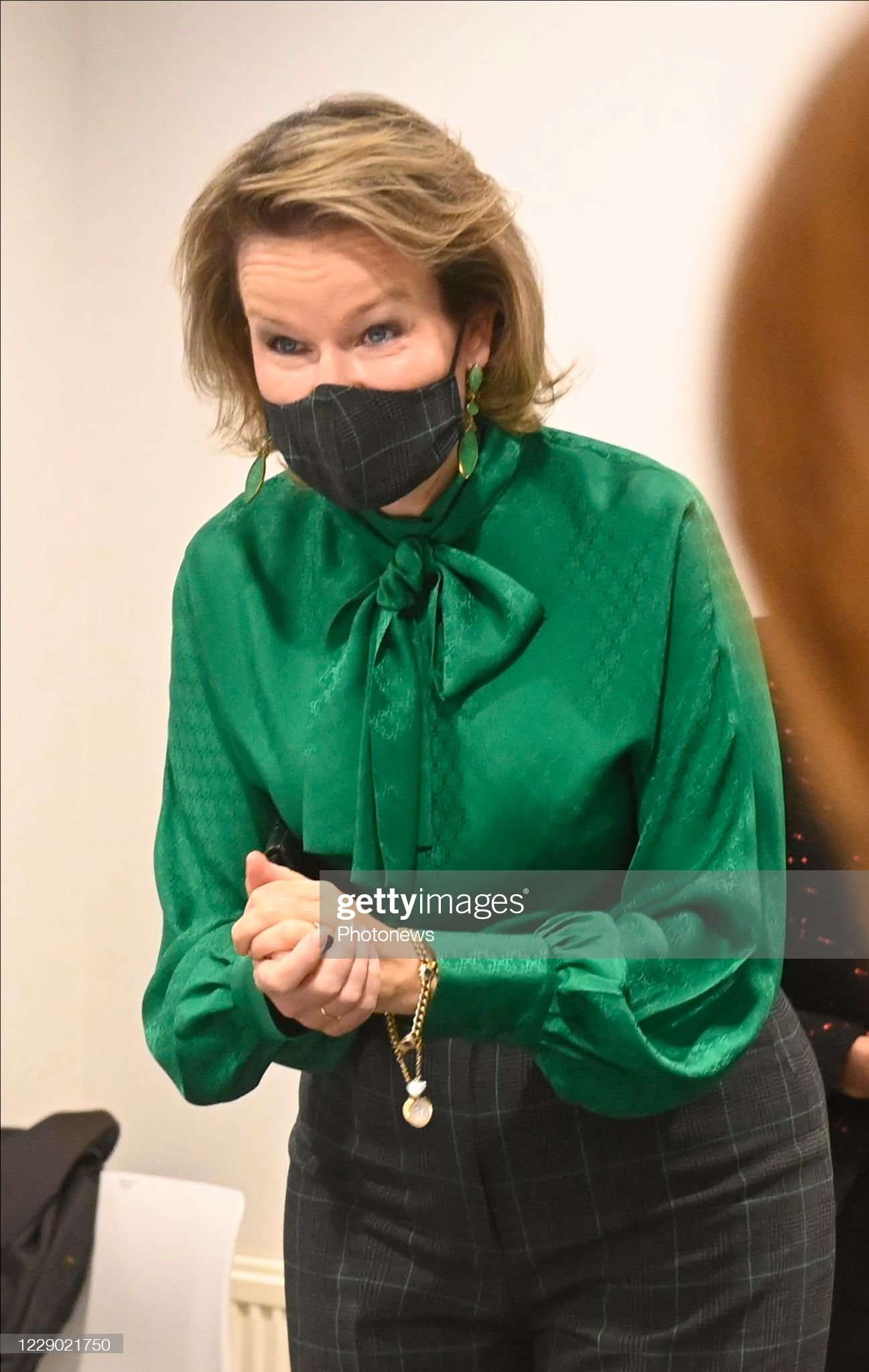 visit-of-queen-mathilde-to-danone-on-occasion-of-a-virtual-event-a-picture-id1229021750