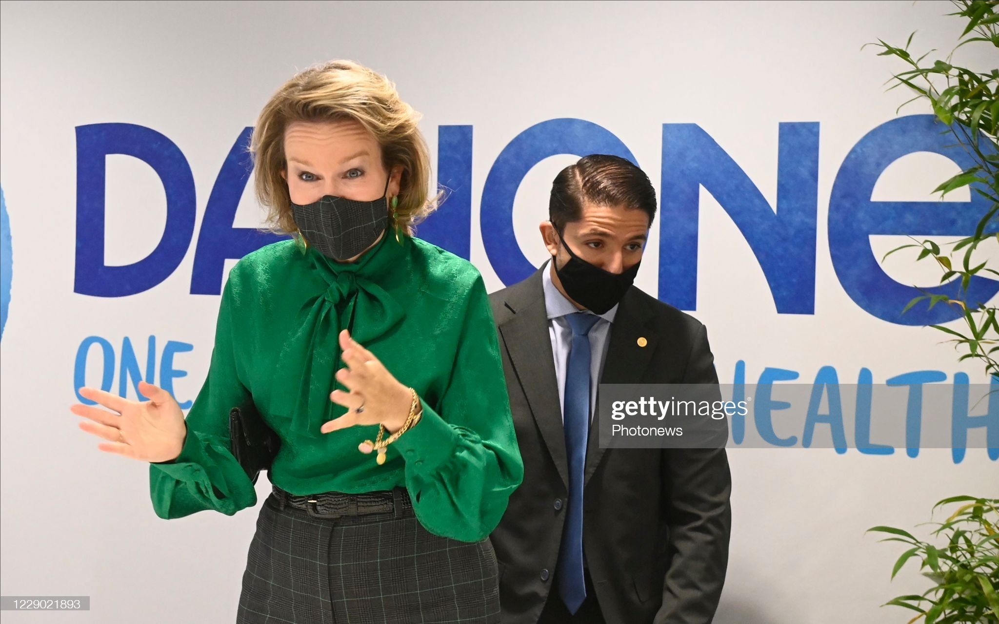 visit-of-queen-mathilde-to-danone-on-occasion-of-a-virtual-event-a-picture-id1229021893