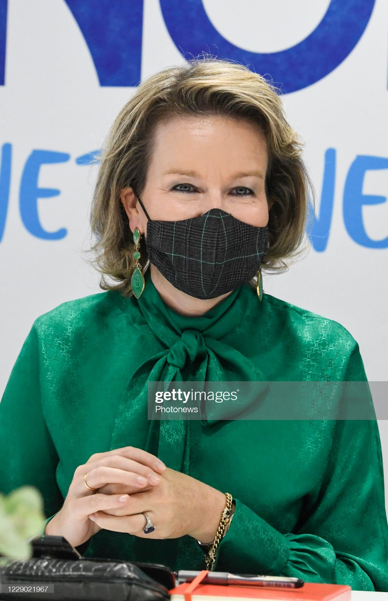 visit-of-queen-mathilde-to-danone-on-occasion-of-a-virtual-event-a-picture-id1229021967