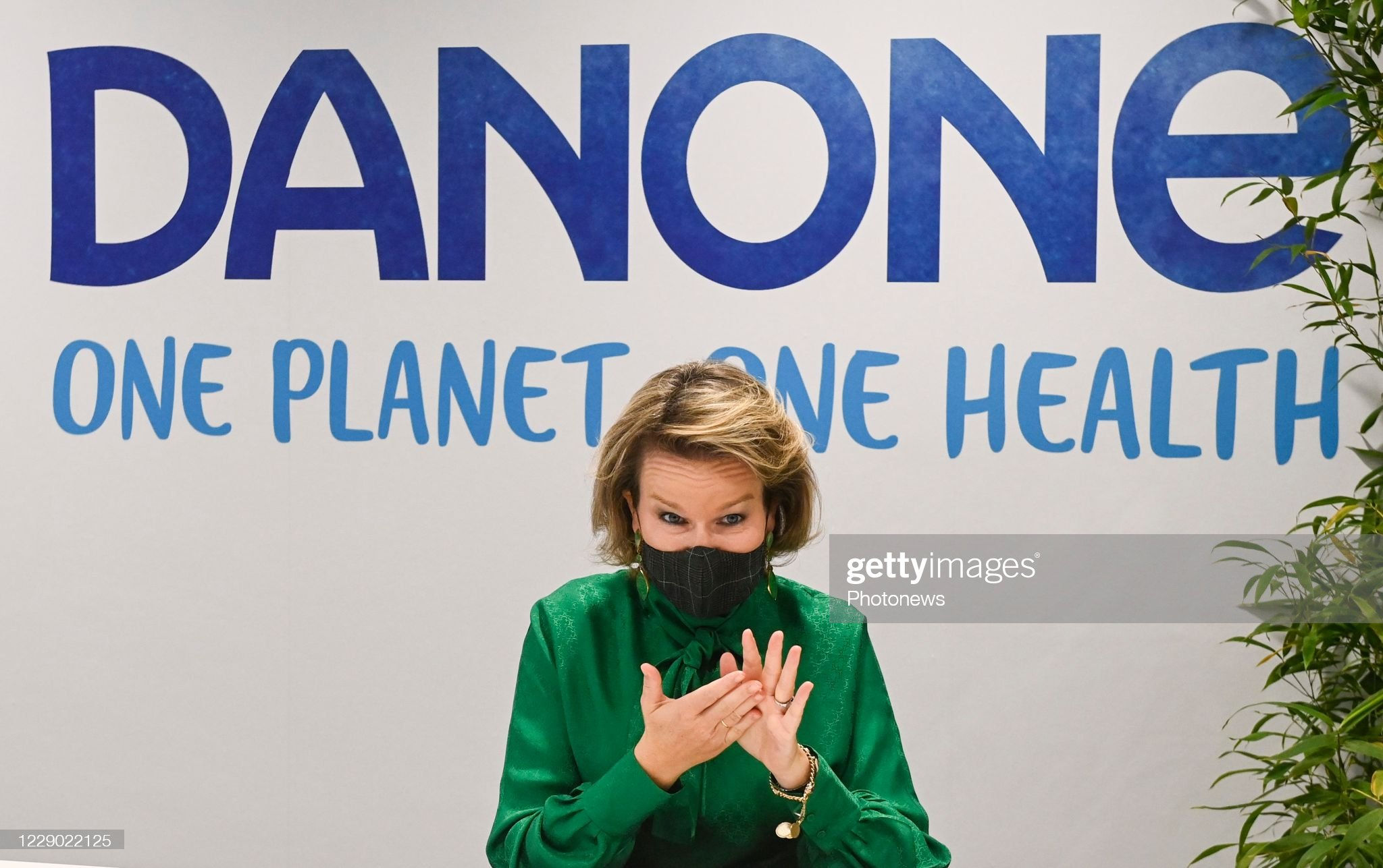 visit-of-queen-mathilde-to-danone-on-occasion-of-a-virtual-event-a-picture-id1229022125
