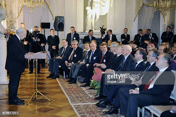 Visit of Russian President Dmitry Medvedev in Poland. A ceremony of awarding the Polish film director Andrzej Wajda with a Friendship Medal....
