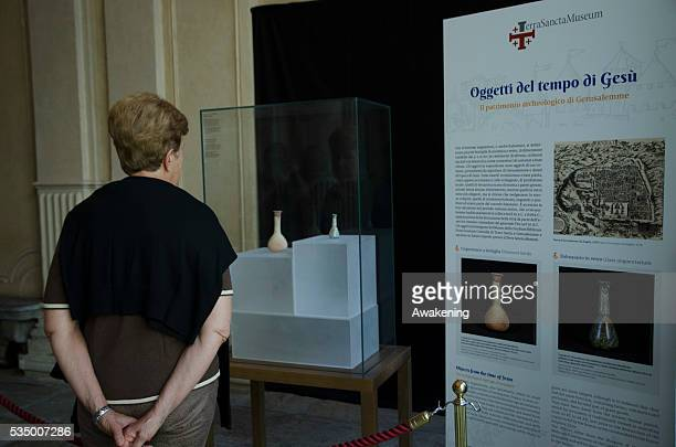 Visit of the Mayor of Bethlehem Vera Baboun at the Museum of Turin MAO to present the exhibition of objects from the Custody of the Holy Land