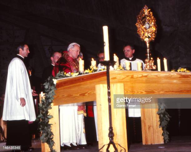 Visit of the Pope John Paul II to the Shrine of 'La Virgen de Guadalupe' 4th November 1982 Guadalupe Caceres Spain