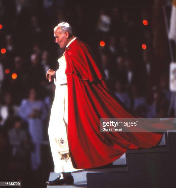 Visit of the Pope John Paul II to Zaragoza 6th November 1982 Zaragoza Spain