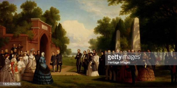 Visit of the Prince of Wales, President Buchanan, and Dignitaries to the Tomb of Washington at Mount Vernon, October 1860, 1861. Artist Thomas...