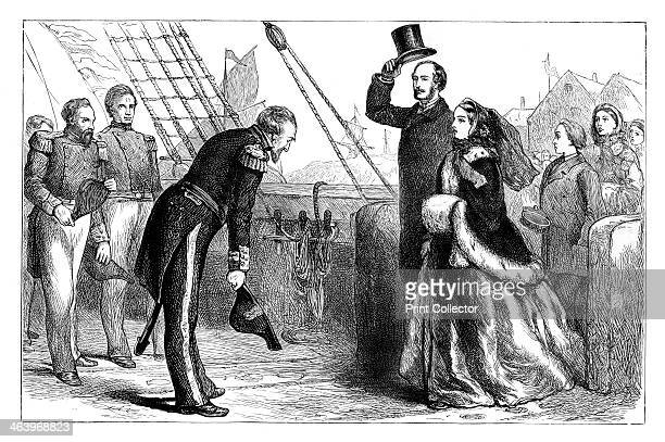 Visit of the Queen and Prince Albert to the 'Resolute' Spithead Hampshire Queen Victoria and her husband visit the ship of British Arctic explorer...