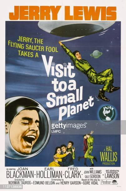 Visit To A Small Planet poster Jerry Lewis bottom from left Joan Blackman Earl Holliman Jerry Lewis Joan Blackman Jerry Lewis 1960