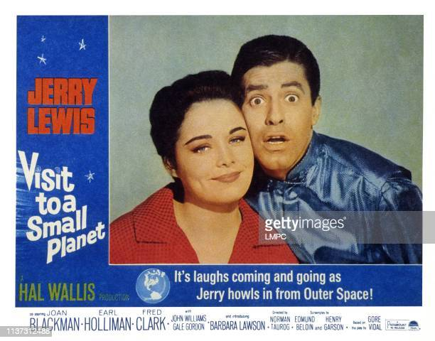 Visit To A Small Planet US lobbycard from left Joan Blackman Jerry Lewis 1960