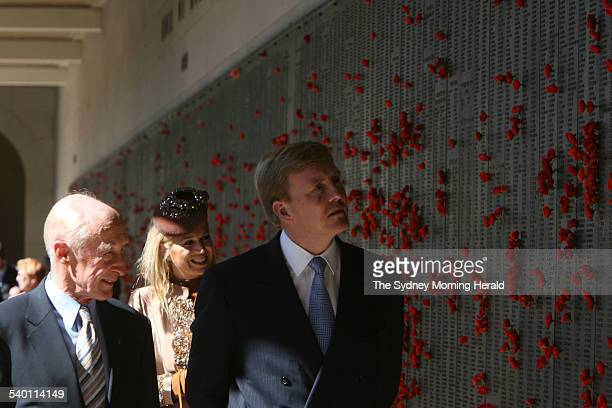 Visit to Australia by His Royal Highness Willem-Alexander, Prince of Orange, heir to the throne of the Netherlands, and his Argentian-born wife, Her...