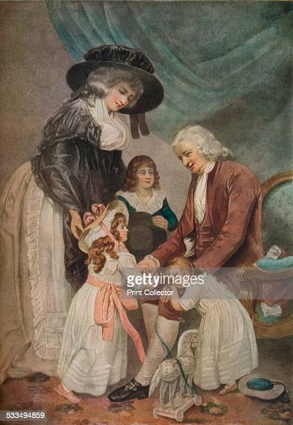 A Visit to the Grandfather 1788 After William Ward From The Connoisseur Vol XLIV by [Otto Limited London 1916]