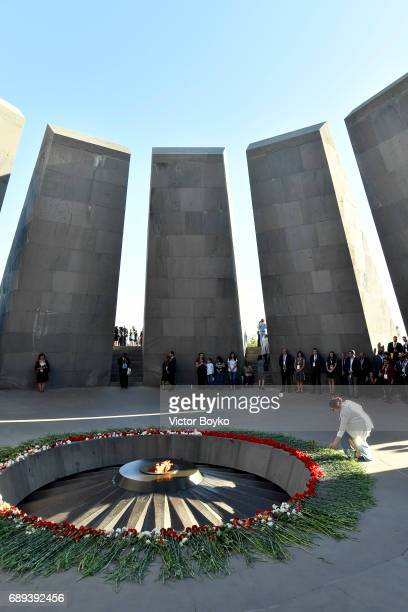 A visit to the Tsitsernakaberd Armenian Genocide Memorial Complex on May 28 2017 in Yerevan Armenia