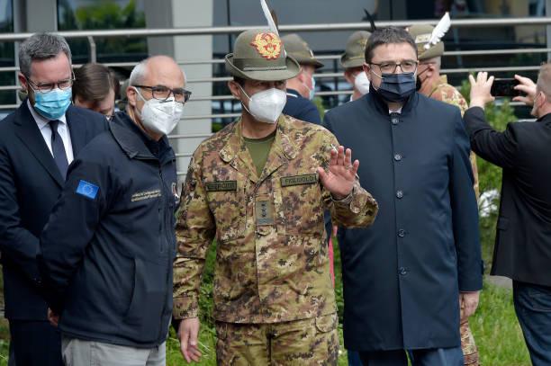 ITA: General Figliuolo Visits The Covid 19 Vaccination Centre