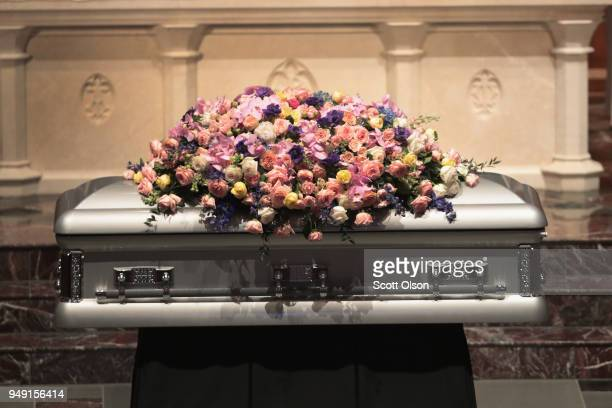 Visitation is held for former first lady Barbara Bush at St Martin's Episcopal Church on April 20 2018 in Houston Texas Bush who died at her home in...