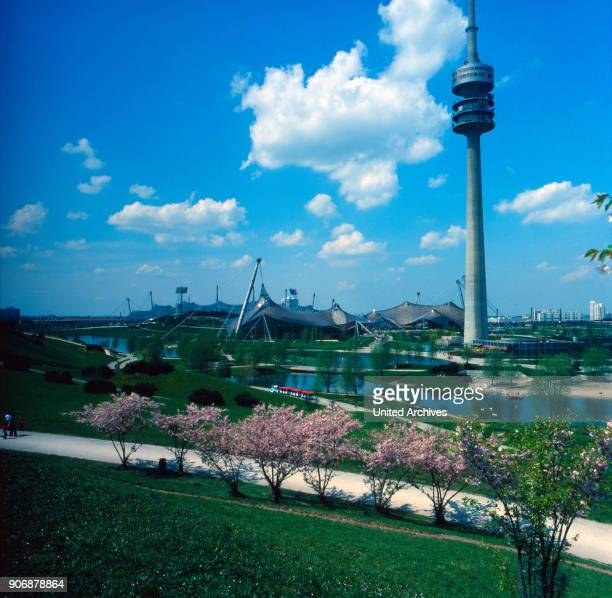 Visitation of the Olympiapark in Munich Bavaria Germany 1980s